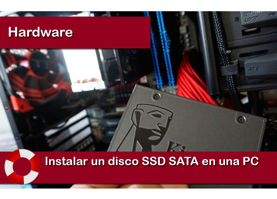 instalar un disco SSD SATA en una PC