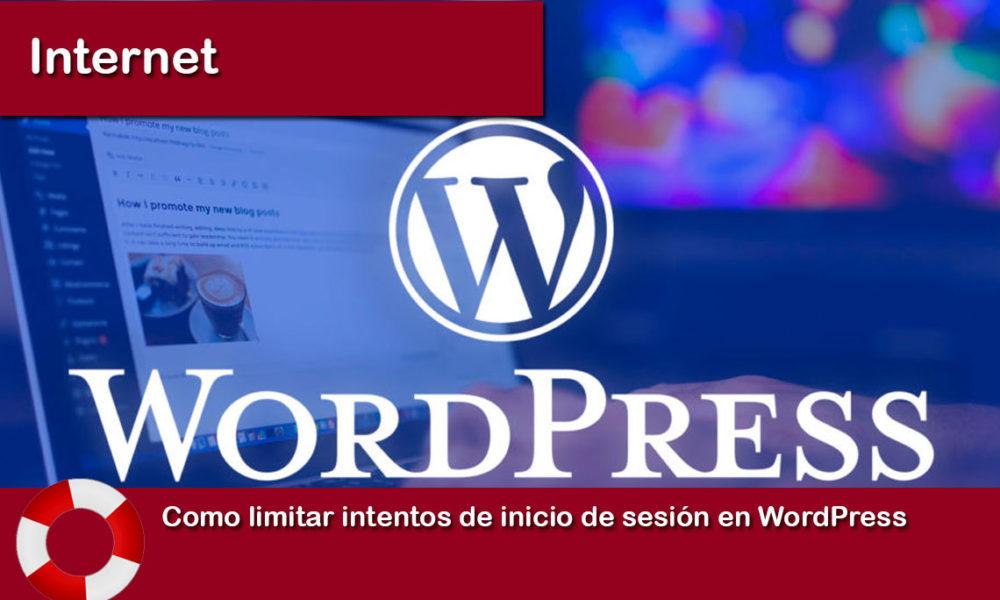 Como limitar intentos de inicio de sesion en WordPress
