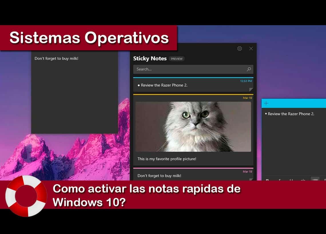Como activar las notas rapidas de windows 10